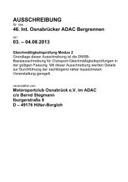 Ausschreibung GLP - ADAC