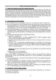 ADAC Richtlinien für Jugend+GF-Trial