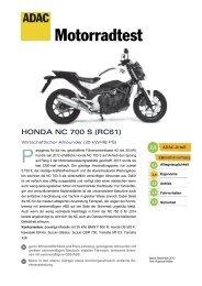 Honda NC 700 S - ADAC