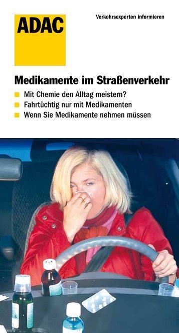 Medikamente im Straßenverkehr - ADAC