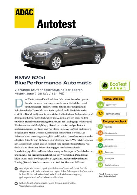 BMW 520d BluePerformance Automatic - ADAC