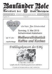 Frühlingskonzert des EBG 6. Mai 2013, 19.00 Uhr ... - Adelsheim