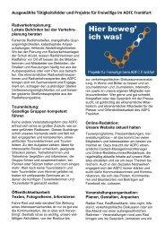 kann man die Beschreibung aller Tätigkeitsfelder ... - ADFC Frankfurt