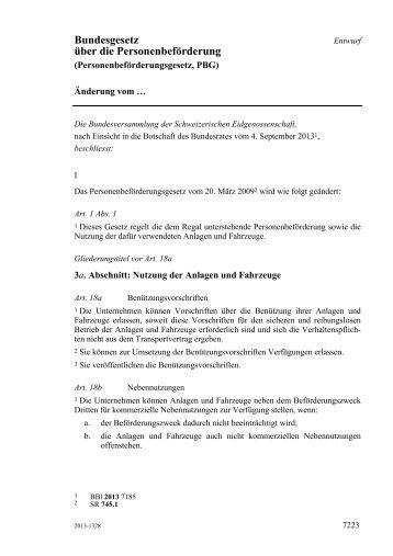 Bundesgesetz über die Personenbeförderung - admin.ch
