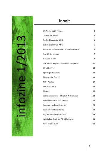 Infozine 1/2013 - Albert Einstein Gymnasium