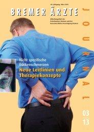 Neue Leitlinien und Therapiekonzepte - Ärztekammer Bremen