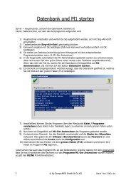 Datenbank und M1 starten - CompuMED M1