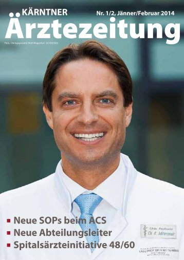 Neue SOPs beim ACS Neue Abteilungsleiter Spitalsärzteinitiative ...