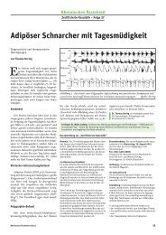 Adipöser Schnarcher mit Tagesmüdigkeit - Ärztekammer Nordrhein