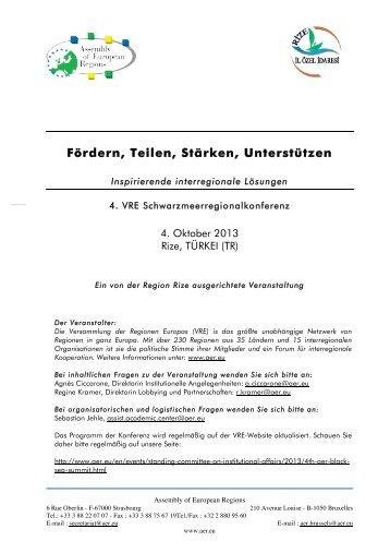 Fördern, Teilen, Stärken, Unterstützen - Assembly of European ...