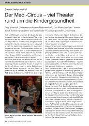 Der Medi-Circus - Schleswig-Holsteinisches Ärzteblatt