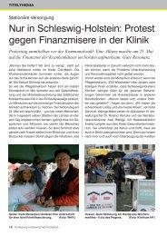 Protest gegen Finanzmisere in der Klinik - Schleswig-Holsteinisches ...
