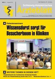 PDF-Gesamtausgabe 2013 / 08 - Schleswig-Holsteinisches Ärzteblatt