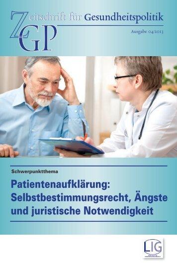 eitschrift für Gesundheitspolitik eitschrift für Gesundheitspolitik
