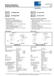 Membran-Steuerventil Typ 30A - 36A - Daume Regelarmaturen Gmbh