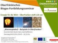 Energie für die Welt - Oberfranken stellt sich vor - Bayern