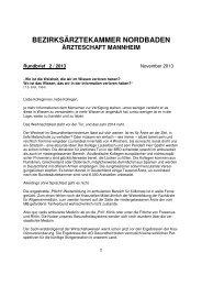 Rundbrief 2-2013 - Landesärztekammer Baden-Württemberg