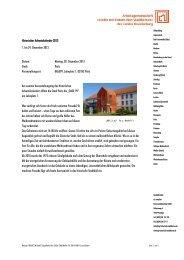 Vorstandssitzung am 20 - Städte mit historischen Stadtkernen