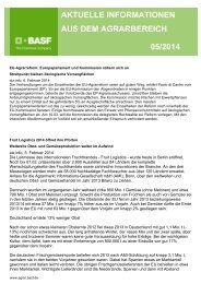 aktuelle informationen aus dem agrarbereich 05/2014 - BASF ...