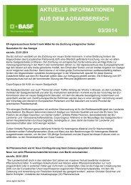 aktuelle informationen aus dem agrarbereich 03/2014 - BASF ...