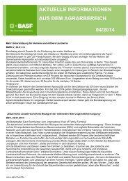 aktuelle informationen aus dem agrarbereich 04/2014 - BASF ...