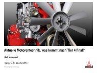 Aktuelle Motorentechnik, was kommt nach Tier 4 final? - Agritechnica