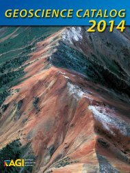 Geoscience cataloG Geoscience cataloG - American Geological ...