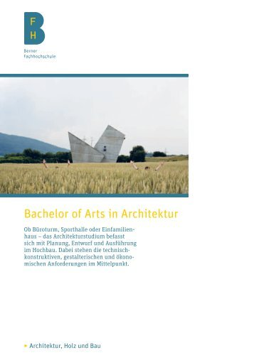 Studienführer (PDF) - Hochschule für Architektur, Holz und Bau AHB