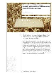 • www.ahb.bfh.ch/fe Werkstoffe und Holztechnologie Projekt ...