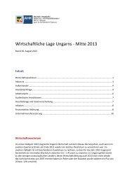 Wirtschaftliche Lage Ungarns - Mitte 2013 - Deutsch-Ungarische ...