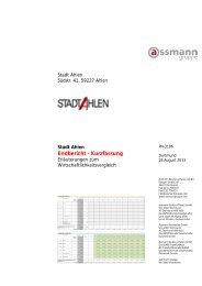 Endbericht - Kurzfassung - der Stadt Ahlen