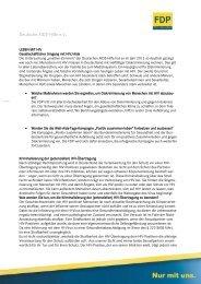 Antworten FDP vom 16.08.2013 - Deutsche AIDS-Hilfe e.V.