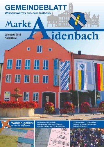 Nr. 3/2013 - Markt Aidenbach