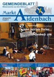 Nr. 2/2013 - Markt Aidenbach