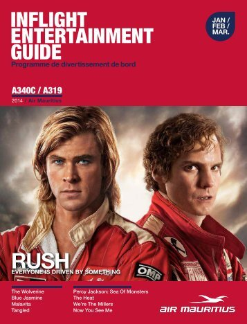 INFLIGHT ENTERTAINMENT GUIDE - Air Mauritius