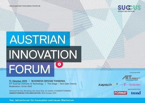AIF 2013 Programmfolder - AIT Austrian Institute of Technology