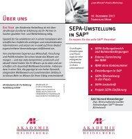 SEPA-Umstellung in SAP® Über uns - AH Akademie für Fortbildung ...