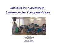 Metabolische Auswirkungen Extrakorporaler Therapieverfahren - AKE