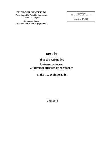 """Unterausschuss """"Bürgerschaftliches Engagement"""" - Aktive ..."""