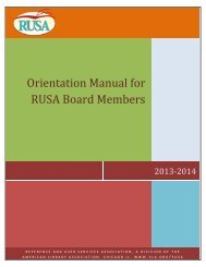 current copy of the Orientation Manual - American Library Association