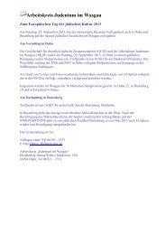Das Programm für Rheinland-Pfalz - Alemannia Judaica