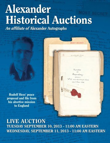 Download Auction 50 PDF Catalog - Part I - Alexander Autographs