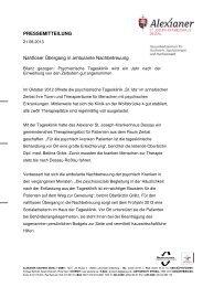 20130821_PM_Psychiatrische Tagesklinik Zerbst - Alexianer