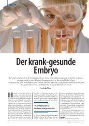 Der krank-gesunde Embryo - Aktion Lebensrecht für Alle eV