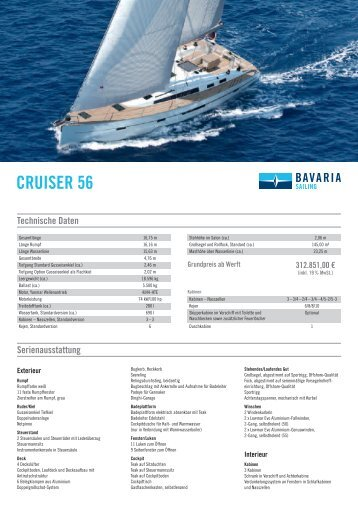 Bavaria Cruiser 56 – PL 2-2014 - Allert Marin GmbH