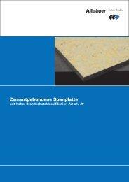 Zementgebundene Spanplatte