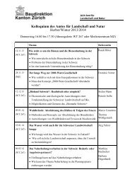 Kolloquienprogramm 2013 / 2014 - Amt für Landschaft und Natur