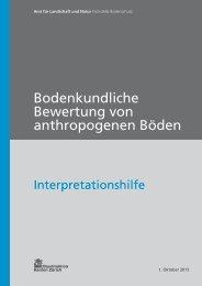 Bodenkundliche Bewertung von anthropogenen Böden - Amt für ...