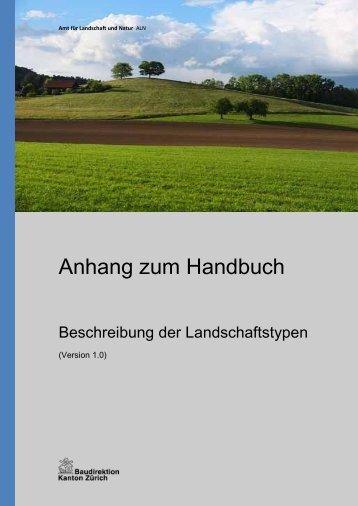 Landschaftstypen Beschreibung - Amt für Landschaft und Natur