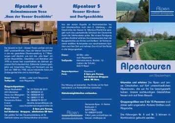 Flyer - Alpentouren - Gemeinde Alpen